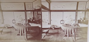 stereoview of japanese home
